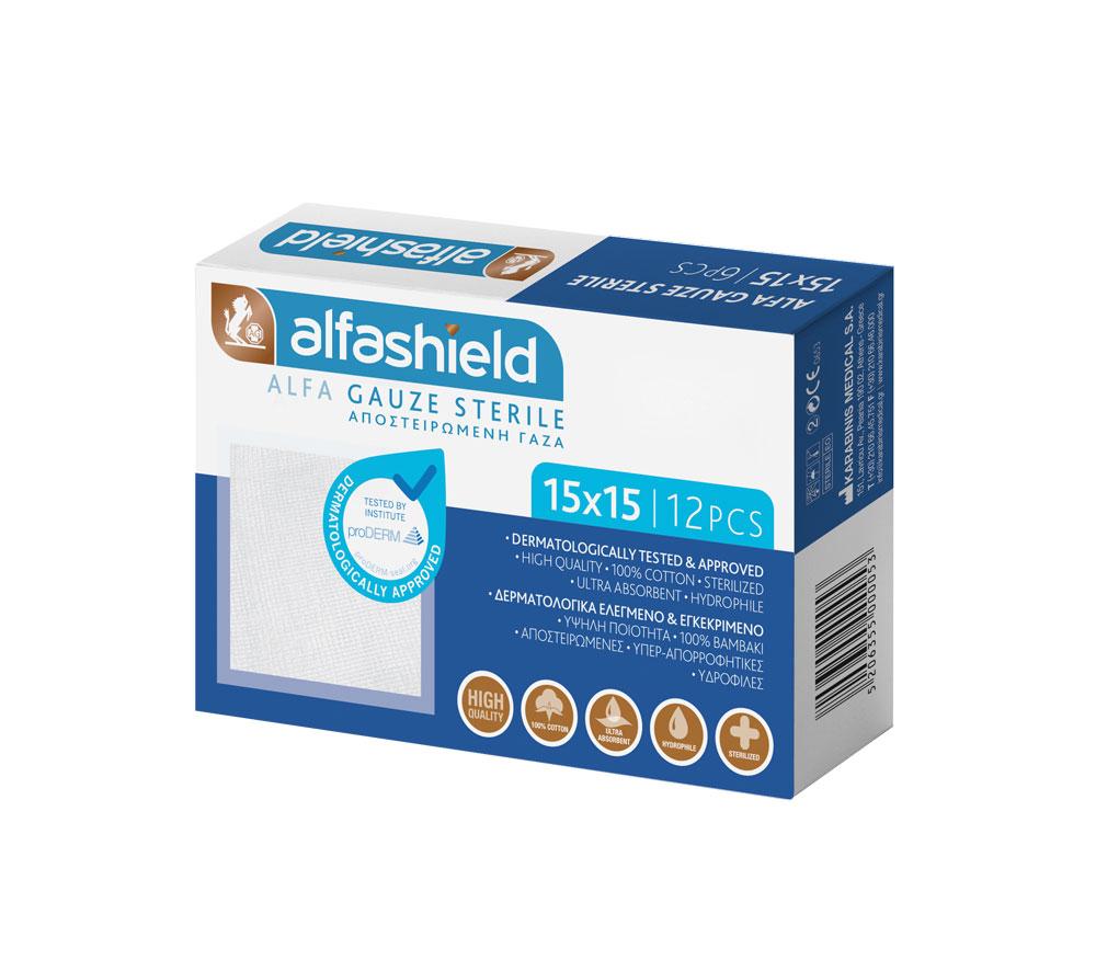 ALFASHIELD_ALFA_GAUZE_STERILE_15Χ15_znzmedical