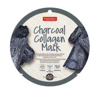 Charcoal-collagen-mask-purederm-1